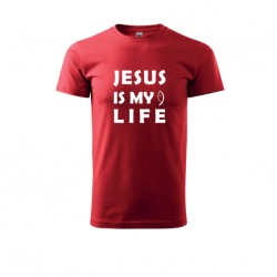 Tričko unisex Heavy New  JESUS IS MY LIFE