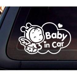 Nálepka na auto dieťa Baby in car Diečatko Včielka