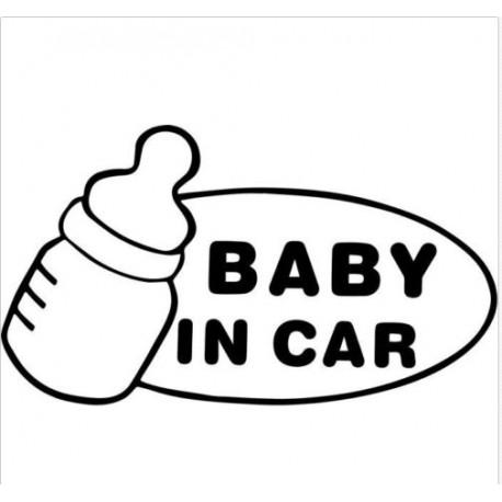 Nálepka na auto dieťa Baby in car Detská fľaša