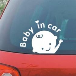 Nálepka na auto dieťa v aute Baby in car batoľa
