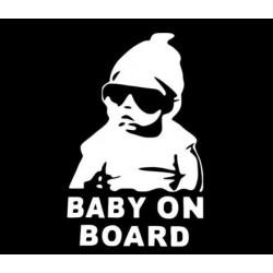 Nálepka na auto na palube BABY ON BOARD frajer Luky