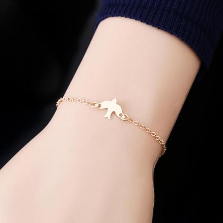 Kresťanský šperk, retiazka na ruku holubica